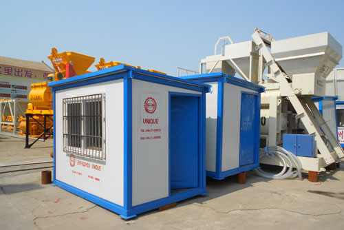 HZS50 Concrete Batching Plant to Romania