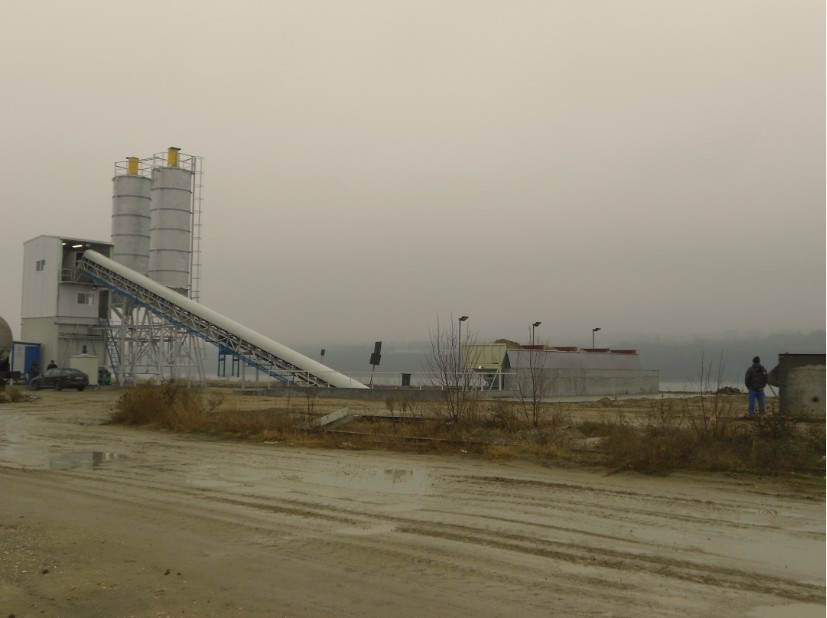 Concrete Mixing Plant HZS60 in Romania