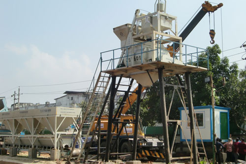 Concrete Mixing Plant Installation in Bangladesh