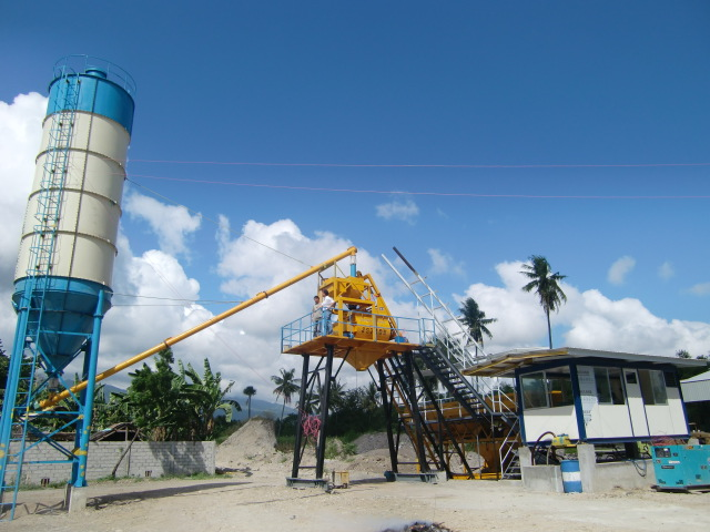 Concrete Mixing Plant Installation in Philippine