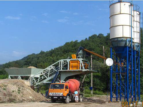 Mobile Concrete Batching Plant in Russia